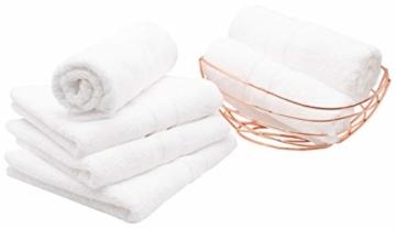 ZOLLNER 10er Set Handtücher, 50x100 cm, 100% Baumwolle, 450g/qm, weiß - 5