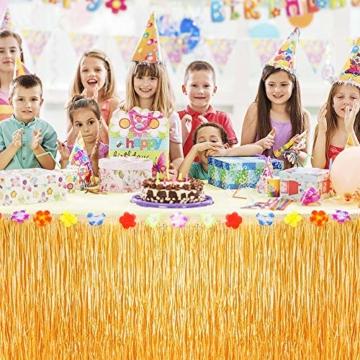 ZOOI Hawaii Deko - Hawaii Party Deko Tischrock Beach Deko, Festival Gadget & Ausrüstung für Hawaii Dekoration Party, Garten Party Deko, Dschungel Deko, Tropicaldeko, Beach Party Dekoration - 7
