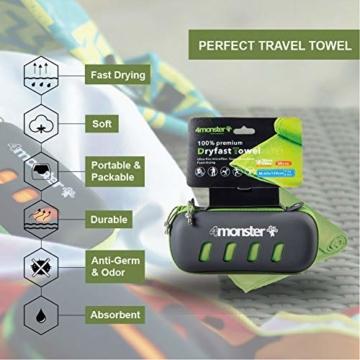 4Monster Mikrofaser Handtücher in 8 Farben, Saugfähiges Sporthandtuch Ultra Leicht, Schnelltrocknendes Reisehandtuch für Fitness Sport Sauna Yoga Reisen - 2