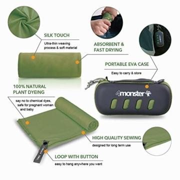 4Monster Mikrofaser Handtücher in 8 Farben, Saugfähiges Sporthandtuch Ultra Leicht, Schnelltrocknendes Reisehandtuch für Fitness Sport Sauna Yoga Reisen - 4