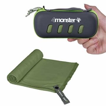 4Monster Mikrofaser Handtücher in 8 Farben, Saugfähiges Sporthandtuch Ultra Leicht, Schnelltrocknendes Reisehandtuch für Fitness Sport Sauna Yoga Reisen - 1