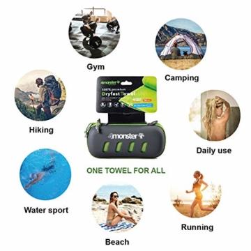 4Monster Mikrofaser Handtücher in 8 Farben, Saugfähiges Sporthandtuch Ultra Leicht, Schnelltrocknendes Reisehandtuch für Fitness Sport Sauna Yoga Reisen - 7