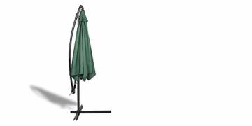 909 OUTDOOR Grüner Ampelschirm für Terrasse, Balkon und Garten Ø 300 cm, Verstellbarer Sonnenschirm mit Fußkreuz und Kurbel, Gartenschirm aus Polyester & Stahl - 8