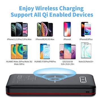 Aikove Wireless Powerbank 26800mAh Solar Externe Handy Akku mit (USB C&Micro) Zwei 2,4A Eingänge und DREI 2,4A Ausgänge, LCD Hohe Kapazitäts Solarladegeräte für Das Tablettes, Smartphones … - 7