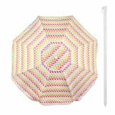 Aktive 62113 Strandschirm 200 cm mit UV-Schutz 50+ Beach - 1