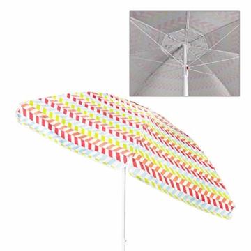 Aktive 62113 Strandschirm 200 cm mit UV-Schutz 50+ Beach - 2