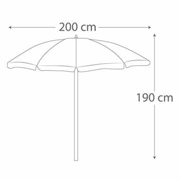 Aktive 62113 Strandschirm 200 cm mit UV-Schutz 50+ Beach - 5