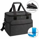 ALLCAMP 30L Kühltasche Faltbare Picknicktasche Thermo Tasche Isoliertasche Kühlkorb Kühlbox isolierbox mit 2 kühlakkus Schwarz - 1