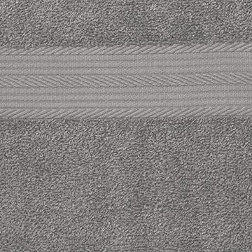 AmazonBasics Handtuch-Set, ausbleichsicher, 2 Badetücher und 2 Handtücher, Grau, 100% Baumwolle 500g/m² - 5
