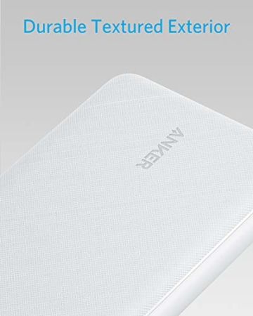 Anker PowerCore Essential 20000 Powerbank, 20000mAh externer Akku mit PowerIQ Technologie und USB-C Eingang, enorme Energiedichte, kompatibel mit iPhone, Samsung, iPad und mehr (Weiß) - 2