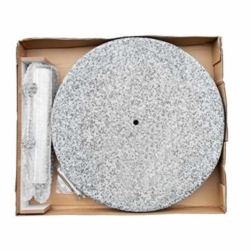 anndora Sonnenschirmständer Granit rund 20kg Naturstein hellgrau poliert - 5