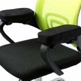"""ANSUG 2 Stück Stuhl Armlehne Pad, Memory Foam Ellenbogen Kissen abnehmbare Stuhl Arm Abdeckungen für Bürostühle und Rollstuhl - Größe 9,8 * 3 * 1,4"""" - 1"""