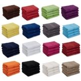 AR Line 4er Pack zum Sparpreis, Frottier Handtuch-Serie - in 7 Größen und 16 Farben 100% Baumwolle 500 g/m², 4er Pack Handtücher (50x100 cm) in Royal - 1
