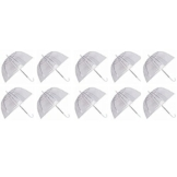 Ardisle Ardisle Set von 10 Regen Regenschirme Dome Birdcage Klar Transparent PVC Kunststoff Hochzeit - 1