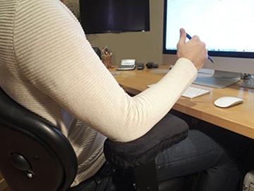 Arm-Eaz Armlehnen Polster fur Burostuhl und Spielstuhl, Memory-Schaum Arbeitsplatz Schreibtischstuhl Armlehnen Kissen fur Ellenbogen Komfort - 3