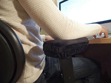 Arm-Eaz Armlehnen Polster fur Burostuhl und Spielstuhl, Memory-Schaum Arbeitsplatz Schreibtischstuhl Armlehnen Kissen fur Ellenbogen Komfort - 5