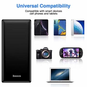 Baseus Power Bank Externer Akku 30000 mAh, USB C Schnelles Aufladen Tragbares Ladegerät für iPhone, iPad, Mac, Kompatibel mit Samsung, Huawei und mehr - 3