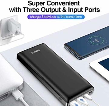 Baseus Power Bank Externer Akku 30000 mAh, USB C Schnelles Aufladen Tragbares Ladegerät für iPhone, iPad, Mac, Kompatibel mit Samsung, Huawei und mehr - 5