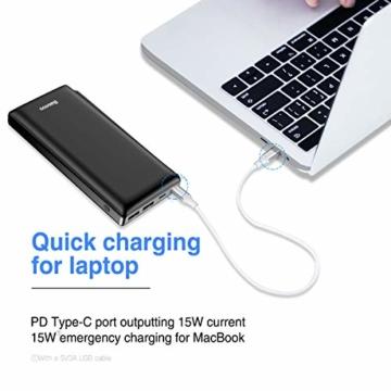 Baseus Power Bank Externer Akku 30000 mAh, USB C Schnelles Aufladen Tragbares Ladegerät für iPhone, iPad, Mac, Kompatibel mit Samsung, Huawei und mehr - 6
