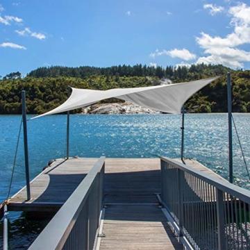 BB Sport Sonnensegel 2m x 2.5m Kokos HDPE Rechteckig UV Schutz Garten Terrasse Camping Sonnenschutz Windschutz Schattenspender - 3