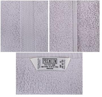 Betz 10-teiliges Handtuch-Set, Premium-Qualität, 100% Baumwolle, 2xBadetücher, 4xHandtücher, 2xGästetücher, 2xWaschlappen, Anthrazitgrau und Silbergrau - 7