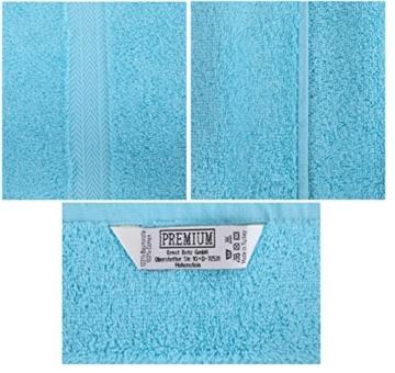 Betz 10-TLG. Handtuch-Set Premium 100% Baumwolle 2 Duschtücher 4 Handtücher 2 Gästetücher 2 Waschhandschuhe Farbe Türkis & Anthrazit Grau - 9