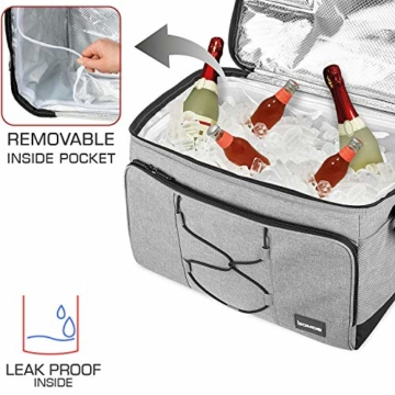 bomoe 52 Liter XXL Kühltasche groß faltbar IceBreezer KT53 - Outdoor Kühlbox Isoliertasche für unterwegs - 53x37x32 cm - Auch als Picknicktasche Thermotasche nutzbar – Perfekter Lebensmitteltransport - 2