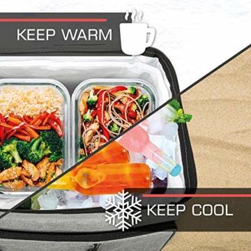 bomoe 52 Liter XXL Kühltasche groß faltbar IceBreezer KT53 - Outdoor Kühlbox Isoliertasche für unterwegs - 53x37x32 cm - Auch als Picknicktasche Thermotasche nutzbar – Perfekter Lebensmitteltransport - 3