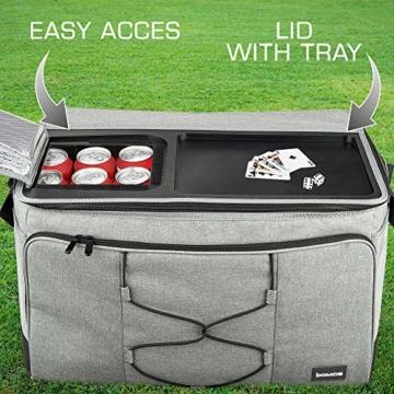 bomoe 52 Liter XXL Kühltasche groß faltbar IceBreezer KT53 - Outdoor Kühlbox Isoliertasche für unterwegs - 53x37x32 cm - Auch als Picknicktasche Thermotasche nutzbar – Perfekter Lebensmitteltransport - 4