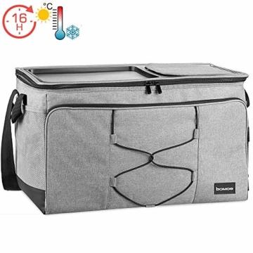 bomoe 52 Liter XXL Kühltasche groß faltbar IceBreezer KT53 - Outdoor Kühlbox Isoliertasche für unterwegs - 53x37x32 cm - Auch als Picknicktasche Thermotasche nutzbar – Perfekter Lebensmitteltransport - 1