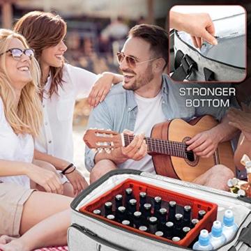 bomoe 52 Liter XXL Kühltasche groß faltbar IceBreezer KT53 - Outdoor Kühlbox Isoliertasche für unterwegs - 53x37x32 cm - Auch als Picknicktasche Thermotasche nutzbar – Perfekter Lebensmitteltransport - 5