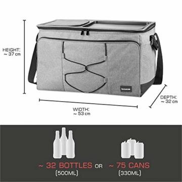 bomoe 52 Liter XXL Kühltasche groß faltbar IceBreezer KT53 - Outdoor Kühlbox Isoliertasche für unterwegs - 53x37x32 cm - Auch als Picknicktasche Thermotasche nutzbar – Perfekter Lebensmitteltransport - 6