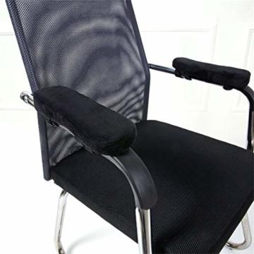 Botreelife 1 Stk. Stuhl Armpolster Memory Foam Computer Stuhl Armlehne Pedalabdeckung Geeignet zur Beruhigung von Ellbogen und Unterarmen Druckentlastung - 5