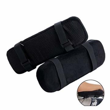 Botreelife 1 Stk. Stuhl Armpolster Memory Foam Computer Stuhl Armlehne Pedalabdeckung Geeignet zur Beruhigung von Ellbogen und Unterarmen Druckentlastung - 7