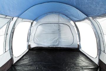 CampFeuer Campingzelt für 4 Personen   Großes Familienzelt mit 3 Eingängen und 5.000 mm Wassersäule   Tunnelzelt   blau/grau   Gruppenzelt   So Macht Camping Spaß! - 2