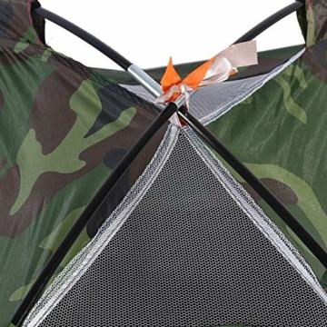 Camping-Zelt - Wasserdichte UV protaction Einzel Personen-Zelt Bewegliche Tarnzelt mit Tragetasche for Camping Backpacking Picknick Angeln Außeneinsatz - 2