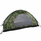 Camping-Zelt - Wasserdichte UV protaction Einzel Personen-Zelt Bewegliche Tarnzelt mit Tragetasche for Camping Backpacking Picknick Angeln Außeneinsatz - 1
