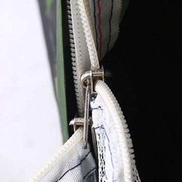 Camping-Zelt - Wasserdichte UV protaction Einzel Personen-Zelt Bewegliche Tarnzelt mit Tragetasche for Camping Backpacking Picknick Angeln Außeneinsatz - 5