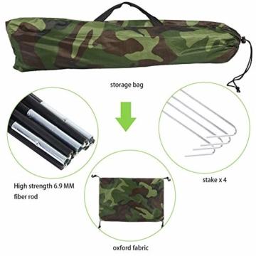 Camping-Zelt - Wasserdichte UV protaction Einzel Personen-Zelt Bewegliche Tarnzelt mit Tragetasche for Camping Backpacking Picknick Angeln Außeneinsatz - 8
