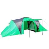 Campingzelt Loksa, 6-Mann Zelt Kuppelzelt Igluzelt Festival-Zelt, 6 Personen ~ grün - 1