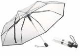 Carlo Milano Regenschirm: Stabiler Automatik-Taschenschirm mit transparentem Dach, Ø 100 cm (Schirm transparent) - 1