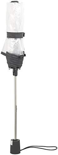 Carlo Milano Regenschirm: Stabiler Automatik-Taschenschirm mit transparentem Dach, Ø 100 cm (Schirm transparent) - 5