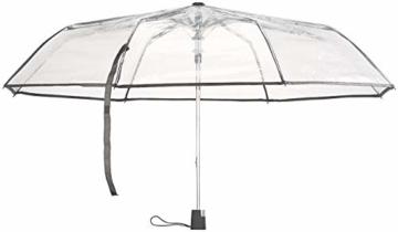 Carlo Milano Regenschirm: Stabiler Automatik-Taschenschirm mit transparentem Dach, Ø 100 cm (Schirm transparent) - 6