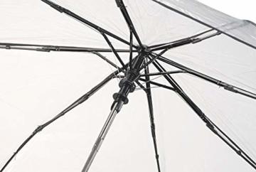 Carlo Milano Regenschirm: Stabiler Automatik-Taschenschirm mit transparentem Dach, Ø 100 cm (Schirm transparent) - 7