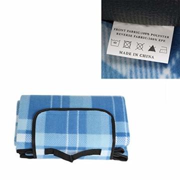 Display4top Deluxe 4 Personen Traditional Wicker Picknickkorb Wicker Hamper - Premium Set mit Tellern, Weingläsern, Besteck und Servietten (Blau) - 7