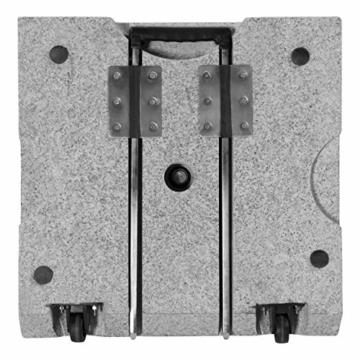 Doppler Active Trolley Granitsockel – 50 kg mit ausziehbarem Zuggriff und Rollen – Für Sonnenschirme – Rostfrei - 2