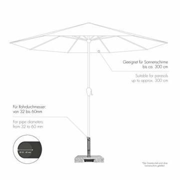 Doppler Active Trolley Granitsockel – 50 kg mit ausziehbarem Zuggriff und Rollen – Für Sonnenschirme – Rostfrei - 6