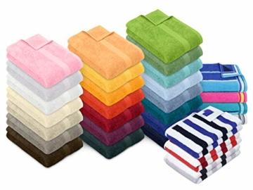 Dyckhoff Traumhaft weiche Bio-Handtuchserie - erhältlich in 22 modischen Unifarben in 7 verschiedenen Größen, sowie 7 Streifen-Variationen, 1 Handtuch 50 x 100 cm, türkis - 2