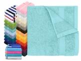 Dyckhoff Traumhaft weiche Bio-Handtuchserie - erhältlich in 22 modischen Unifarben in 7 verschiedenen Größen, sowie 7 Streifen-Variationen, 1 Handtuch 50 x 100 cm, türkis - 1