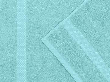 Dyckhoff Traumhaft weiche Bio-Handtuchserie - erhältlich in 22 modischen Unifarben in 7 verschiedenen Größen, sowie 7 Streifen-Variationen, 1 Handtuch 50 x 100 cm, türkis - 3